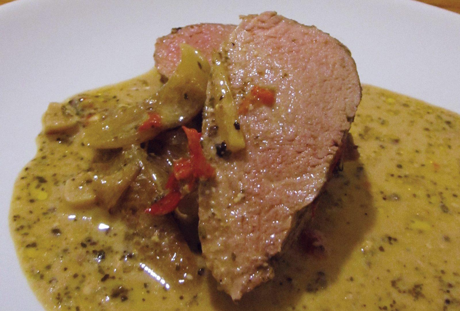 Schweinefilet al Pesto