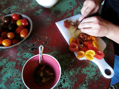 Tomaten vorbereiten