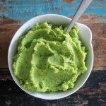 Grünes Kartoffelpüree